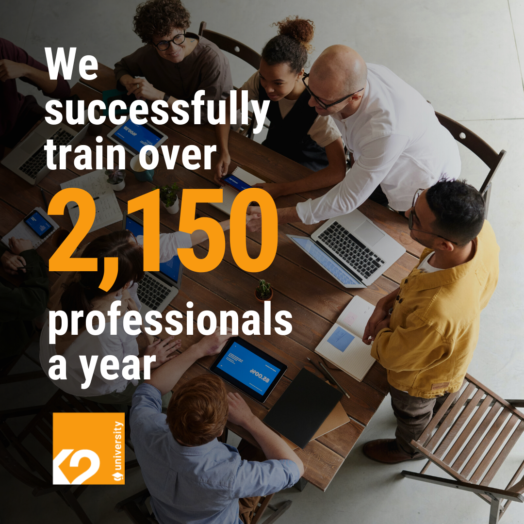 Number of professionals trained